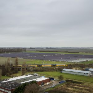 Nederland, Hoofddorp 23 januari 2018 Aanleg van het Solar Park op de Groene Hoek in Hoofddorp, gemeente Haarlemmermeer. COPYRIGHT DIGITAL IMAGE 2018 BAS BEENTJES